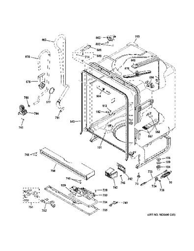 Ge Dishwasher Diagram