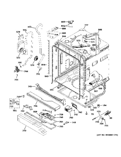 Model Search   GDT580SMF7ES   Ge Dishwasher Schematic      GE Appliances Parts and Accessories